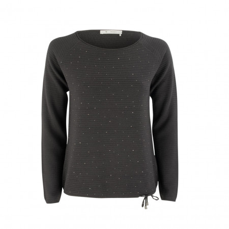 SALE % | Boss Casual | Pullover - Regular Fit - Strass | Blau online im Shop bei meinfischer.de kaufen