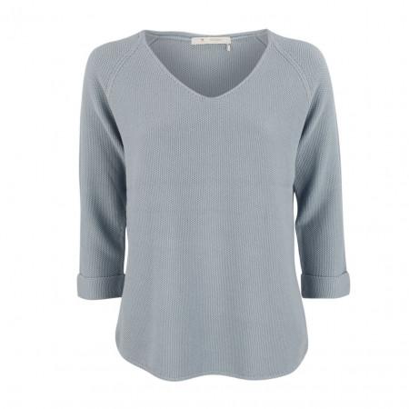 SALE % | Boss Casual | Strickpullover - Regular Fit - 3/4-Arm | Blau online im Shop bei meinfischer.de kaufen