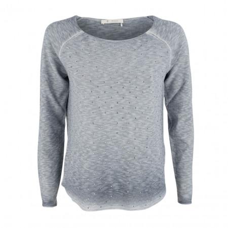 SALE % | Monari | Pullover - Regular Fit -Schmucksteine | Blau online im Shop bei meinfischer.de kaufen