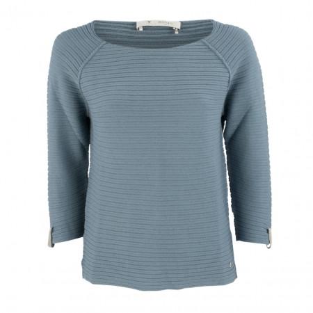 SALE % | Boss Casual | Pullover - Regular Fit - Strukturmuster | Blau online im Shop bei meinfischer.de kaufen