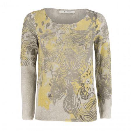 SALE %   Boss Casual   Strickpullover - Regular Fit - Flowers   Grau online im Shop bei meinfischer.de kaufen