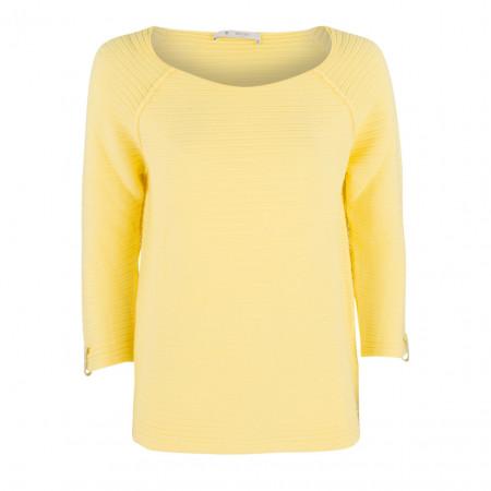 SALE % | Boss Casual | Pullover - Regular Fit - Strukturmuster | Gelb online im Shop bei meinfischer.de kaufen