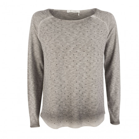 SALE %   Boss Casual   Pullover - Regular Fit -Schmucksteine   Grau online im Shop bei meinfischer.de kaufen