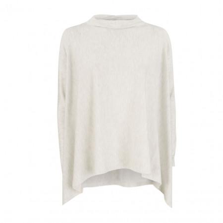 SALE % | Monari | Pullover - Poncho-Form - Turtleneck | Grau online im Shop bei meinfischer.de kaufen