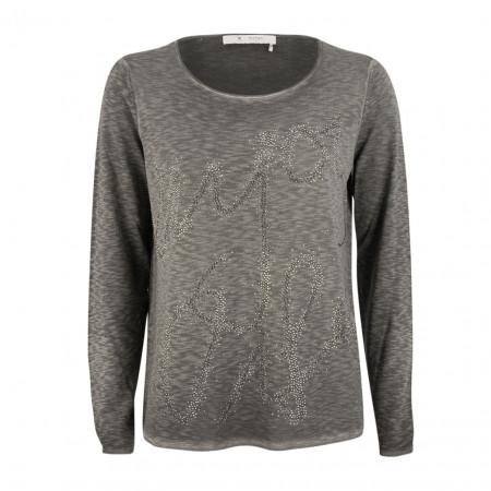 SALE %   Boss Casual   Pullover - oversized - Strassdekor   Grau online im Shop bei meinfischer.de kaufen