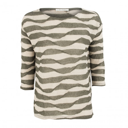 SALE %   Boss Casual   Pullover - Regular Fit - Leinen   Oliv online im Shop bei meinfischer.de kaufen