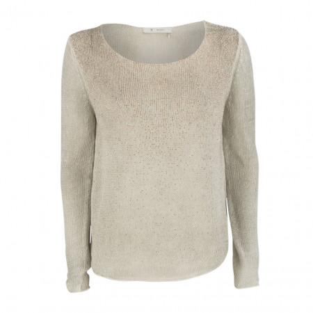 SALE % | Boss Casual | Pullover  -Regular Fit - Strassdekor | Beige online im Shop bei meinfischer.de kaufen