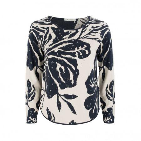 SALE % | Monari | Pullover - Regular Fit - Strassdekor | Blau online im Shop bei meinfischer.de kaufen