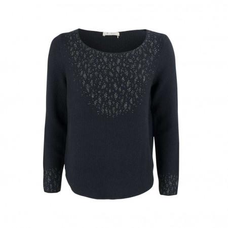 SALE % | Monari | Strickpullover - Regular Fit - Strass | Blau online im Shop bei meinfischer.de kaufen
