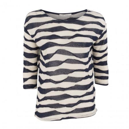 SALE % | Boss Casual | Pullover - Regular Fit - Leinen | Blau online im Shop bei meinfischer.de kaufen