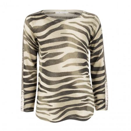 SALE % | Boss Casual | Pullover - Regular Fit - Pailletten | Beige online im Shop bei meinfischer.de kaufen