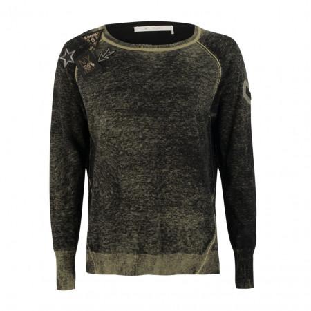 SALE % | Monari | Pullover - Regular Fit - Cold-dye-Optik | Oliv online im Shop bei meinfischer.de kaufen