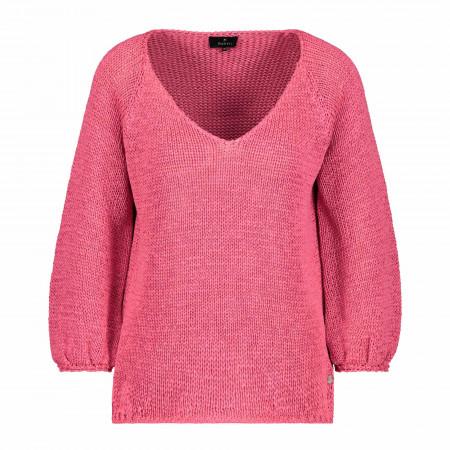 SALE % | Monari | Pullover - Regular Fit - 3/4-Arm | Rosa online im Shop bei meinfischer.de kaufen
