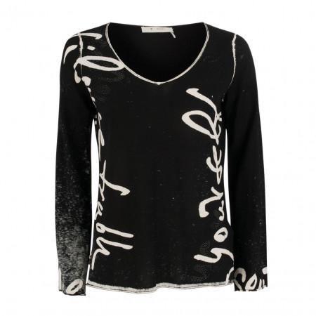 SALE %   Monari   Pullover - Regular Fit - V-Neck   Schwarz online im Shop bei meinfischer.de kaufen