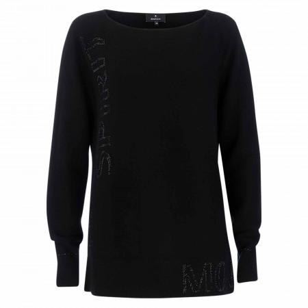 SALE %   Monari   Pullover - Loose Fit - Crewneck   Schwarz online im Shop bei meinfischer.de kaufen