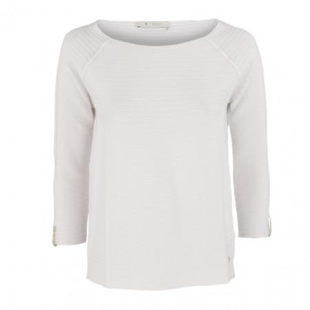 SALE % | Boss Casual | Pullover - Regular Fit - Strukturmuster | Weiß online im Shop bei meinfischer.de kaufen