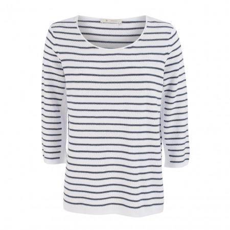 SALE % | Boss Casual | Pullover - Regular Fit - Stripes | Blau online im Shop bei meinfischer.de kaufen