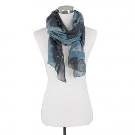 SALE % | Monari | Schal - Blumenprint - blau | Blau online im Shop bei meinfischer.de kaufen
