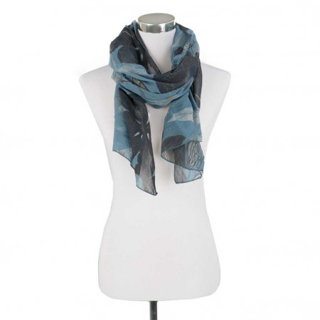 SALE % | Boss Casual | Schal - Blumenprint - blau | Blau online im Shop bei meinfischer.de kaufen