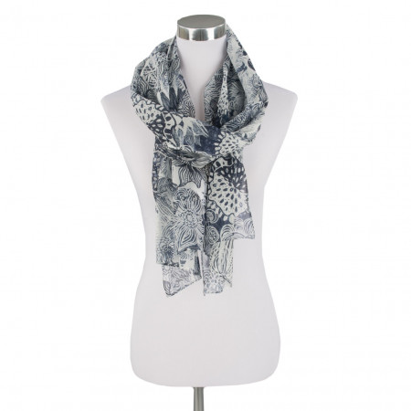SALE % | Boss Casual | Schal - Flowerprint | Blau online im Shop bei meinfischer.de kaufen