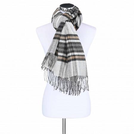 SALE %   Monari   Schal - Check   Grau online im Shop bei meinfischer.de kaufen