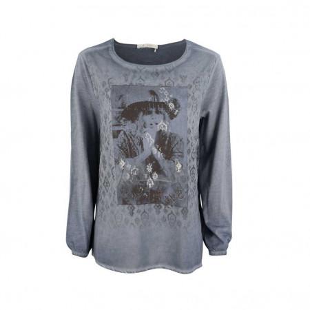 SALE % | Monari | Bluse - Reguar Fit - Print | Blau online im Shop bei meinfischer.de kaufen