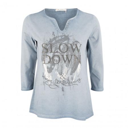 SALE % | Monari | Longsleeve - Regular Fit - Strassdekor | Blau online im Shop bei meinfischer.de kaufen