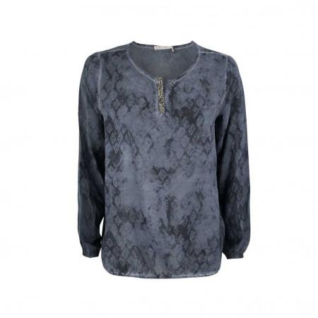 SALE % | Monari | Bluse - Regular Fit  -Swarovski | Blau online im Shop bei meinfischer.de kaufen