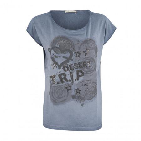 SALE % | Boss Casual | Shirt - oversized - Print | Blau online im Shop bei meinfischer.de kaufen