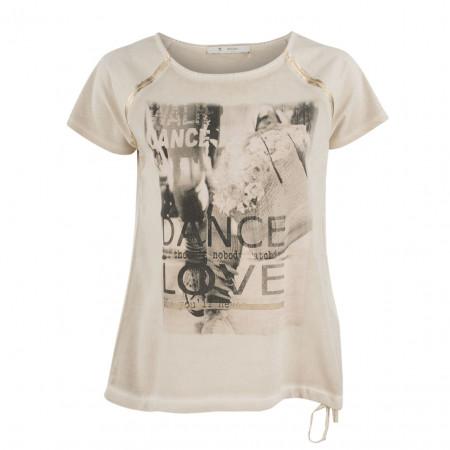 SALE % | Boss Casual | Blusenshirt - oversized - Print | Beige online im Shop bei meinfischer.de kaufen