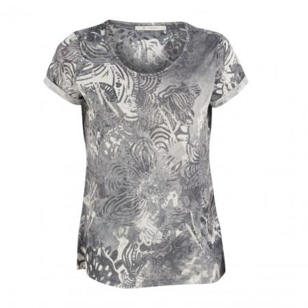 SALE % | Boss Casual | T-Shirt - Regular Fit - Strassdekor | Grau online im Shop bei meinfischer.de kaufen