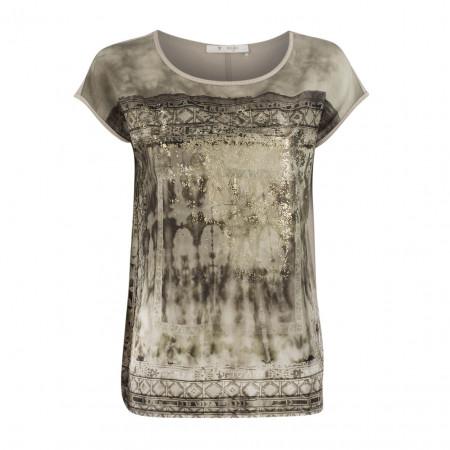 SALE % | Boss Casual | Blusenshirt - Regular Fit - Metallic | Beige online im Shop bei meinfischer.de kaufen
