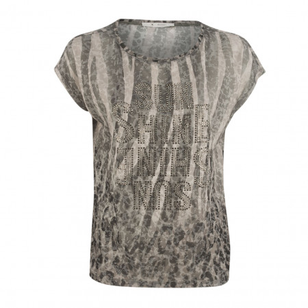 SALE % | Boss Casual | Shirt - oversized - Strassprint | Grau online im Shop bei meinfischer.de kaufen