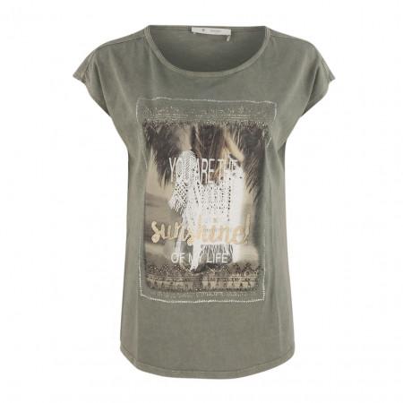 SALE % | Boss Casual | Shirt - oversized - Frontprint | Oliv online im Shop bei meinfischer.de kaufen