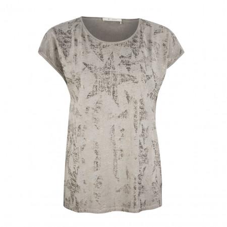SALE % | Boss Casual | T-Shirt - Regular Fit - Silver-Schimmer | Grau online im Shop bei meinfischer.de kaufen