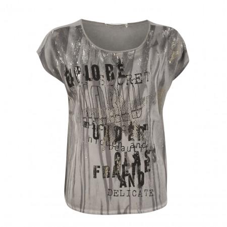 SALE %   Boss Casual   T-Shirt - oversized - Strassprint   Grau online im Shop bei meinfischer.de kaufen