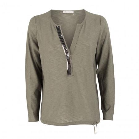 SALE % | Boss Casual | Pullover - Regular Fit - Pailletten | Grau online im Shop bei meinfischer.de kaufen