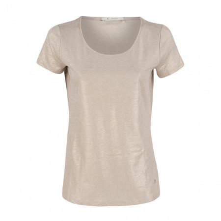 SALE % | Boss Casual | T-Shirt - Regular Fit - Goldschimmer | Beige online im Shop bei meinfischer.de kaufen