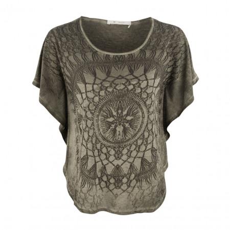 SALE % | Boss Casual | Shirt - Cape-Form - Strassdekor | Grün online im Shop bei meinfischer.de kaufen