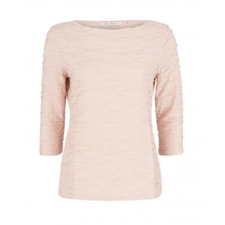 SALE % | Monari | Jerseyshirt mit Biesenapplikation | Rosa online im Shop bei meinfischer.de kaufen