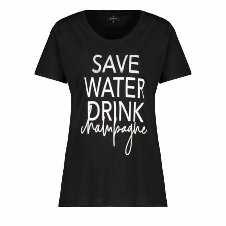 SALE %   Monari   Shirt - Regular Fit - Material-Mix   Schwarz online im Shop bei meinfischer.de kaufen