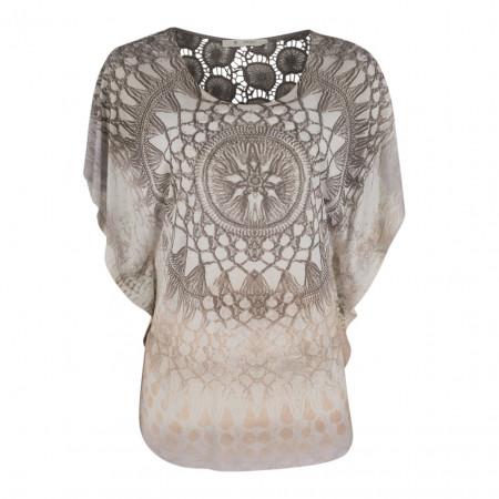 SALE % | Boss Casual | Shirt - Poncho-Form - Spitze | Grau online im Shop bei meinfischer.de kaufen
