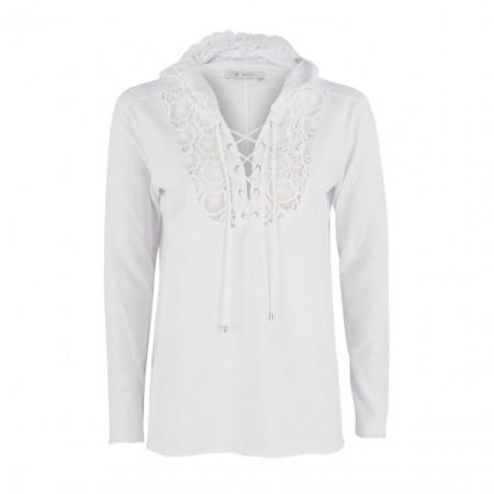 SALE % | Boss Casual | Shirt - oversized - Kapuze | Weiß online im Shop bei meinfischer.de kaufen