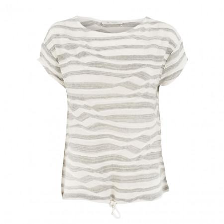 SALE % | Monari | Leinenshirt - Regular Fit - Stripes | Weiß online im Shop bei meinfischer.de kaufen