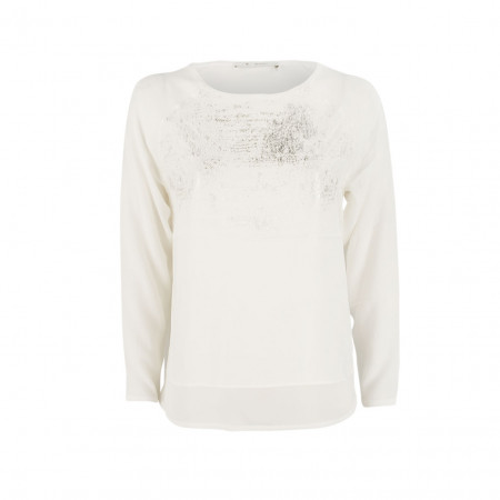 SALE % | Boss Casual | Bluse - Regular Fit - Goldschimmer | Weiß online im Shop bei meinfischer.de kaufen