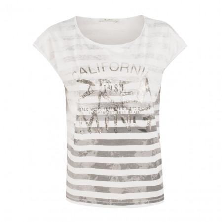 SALE % | Boss Casual | T-Shirt - Regular Fit - Print-Mix | Weiß online im Shop bei meinfischer.de kaufen