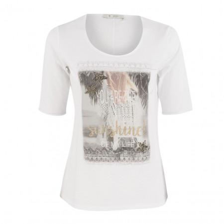 SALE %   Boss Casual   Shirt - Regular Fit - Frontprint   Weiß online im Shop bei meinfischer.de kaufen