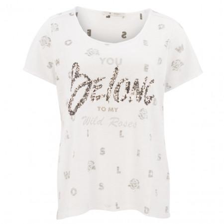 T-Shirt  - Comfort Fit - Pailletten-Print