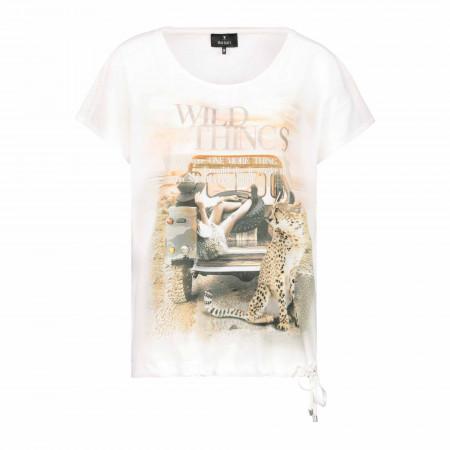 SALE % | Monari | Blusenshirt - Comfort Fit - Material-Mix | Weiß online im Shop bei meinfischer.de kaufen