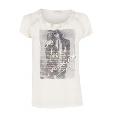 SALE % | Boss Casual | T-Shirt - Regular Fit - semitransparent | Weiß online im Shop bei meinfischer.de kaufen